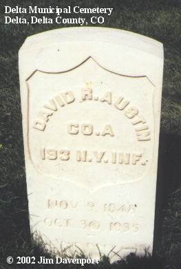 AUSTIN, DAVID R. - Delta County, Colorado | DAVID R. AUSTIN - Colorado Gravestone Photos