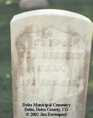 BECKLEY, GEO. - Delta County, Colorado | GEO. BECKLEY - Colorado Gravestone Photos