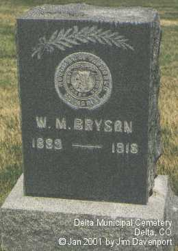 BRYSON, W. M. - Delta County, Colorado | W. M. BRYSON - Colorado Gravestone Photos