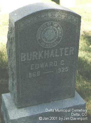 BURKHALTER, EDWARD C. - Delta County, Colorado | EDWARD C. BURKHALTER - Colorado Gravestone Photos