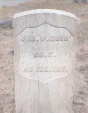 CAIN, JNO. W. - Delta County, Colorado | JNO. W. CAIN - Colorado Gravestone Photos
