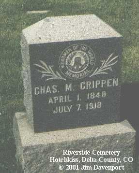 CRIPPEN, CHAS M. - Delta County, Colorado | CHAS M. CRIPPEN - Colorado Gravestone Photos