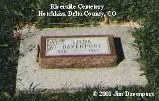DAVENPORT, TILDA - Delta County, Colorado | TILDA DAVENPORT - Colorado Gravestone Photos
