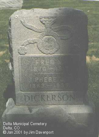 DICKERSON, PHEBE J. - Delta County, Colorado | PHEBE J. DICKERSON - Colorado Gravestone Photos