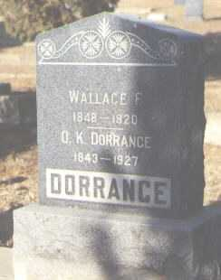 DORRANCE, WALLACE F. - Delta County, Colorado | WALLACE F. DORRANCE - Colorado Gravestone Photos