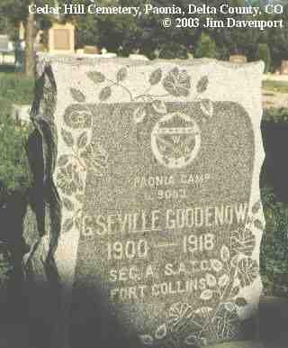 GOODENOW, G. SEVILLE - Delta County, Colorado | G. SEVILLE GOODENOW - Colorado Gravestone Photos