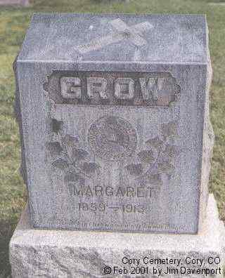GROW, MARGARET - Delta County, Colorado | MARGARET GROW - Colorado Gravestone Photos