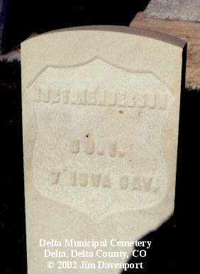 HENDERSON, ROB'T - Delta County, Colorado | ROB'T HENDERSON - Colorado Gravestone Photos