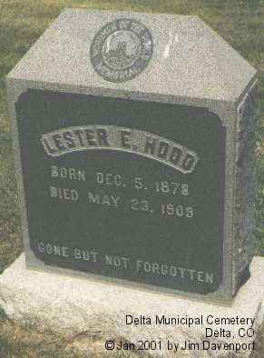 HOOD, LESTER E. - Delta County, Colorado | LESTER E. HOOD - Colorado Gravestone Photos