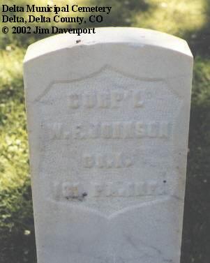 JOHNSON, W. F. - Delta County, Colorado | W. F. JOHNSON - Colorado Gravestone Photos