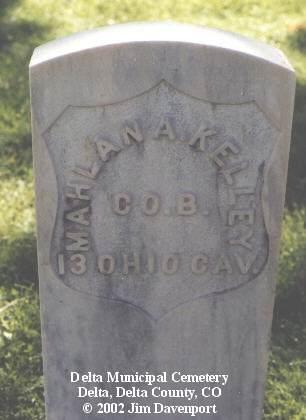 KELLEY, MAHLAN A. - Delta County, Colorado | MAHLAN A. KELLEY - Colorado Gravestone Photos
