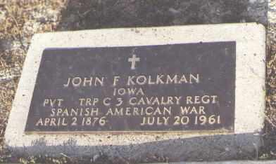 KOLKMAN, JOHN F. - Delta County, Colorado | JOHN F. KOLKMAN - Colorado Gravestone Photos