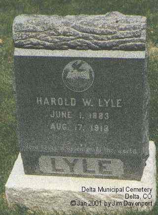 LYLE, HAROLD W. - Delta County, Colorado | HAROLD W. LYLE - Colorado Gravestone Photos
