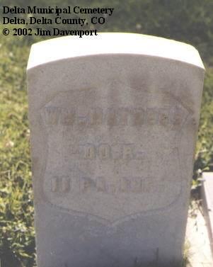 MATHERS, WM. - Delta County, Colorado | WM. MATHERS - Colorado Gravestone Photos