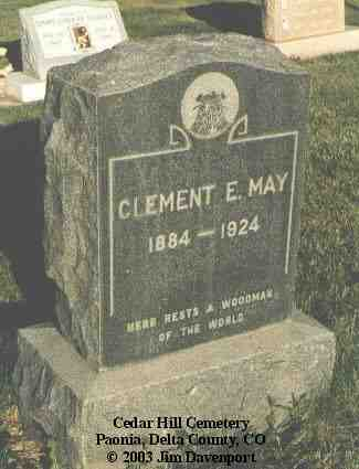 MAY, CLEMENT E. - Delta County, Colorado | CLEMENT E. MAY - Colorado Gravestone Photos