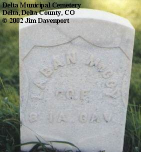 MCCOY, LABAN - Delta County, Colorado | LABAN MCCOY - Colorado Gravestone Photos