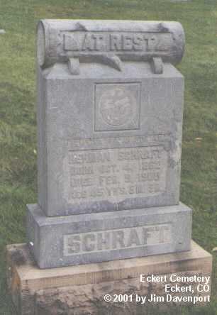SCHRAFT, HERMAN - Delta County, Colorado | HERMAN SCHRAFT - Colorado Gravestone Photos