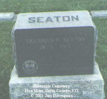 SEATON, THADEOUS K. - Delta County, Colorado | THADEOUS K. SEATON - Colorado Gravestone Photos