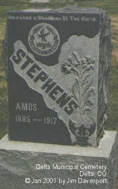 STEPHENS, AMOS - Delta County, Colorado | AMOS STEPHENS - Colorado Gravestone Photos