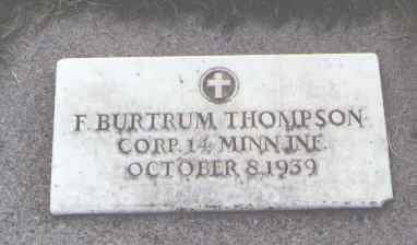 THOMPSON, F. BURTRUM - Delta County, Colorado | F. BURTRUM THOMPSON - Colorado Gravestone Photos