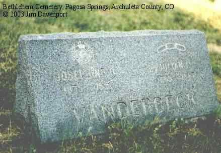 VANDERBECK, JULIAN C. - Delta County, Colorado | JULIAN C. VANDERBECK - Colorado Gravestone Photos
