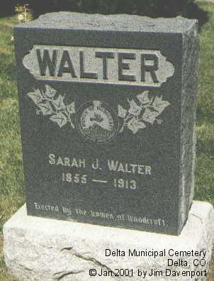 WALTER, SARAH J. - Delta County, Colorado | SARAH J. WALTER - Colorado Gravestone Photos