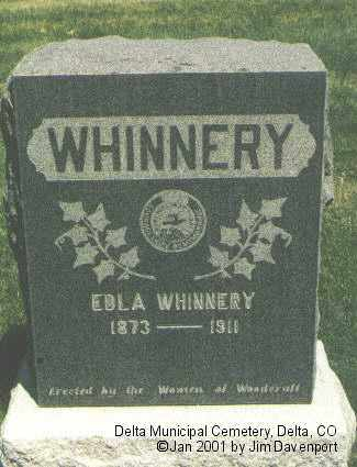 WHINNERY, EDLA - Delta County, Colorado | EDLA WHINNERY - Colorado Gravestone Photos