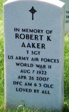 AAKER, ROBERT K - Denver County, Colorado | ROBERT K AAKER - Colorado Gravestone Photos
