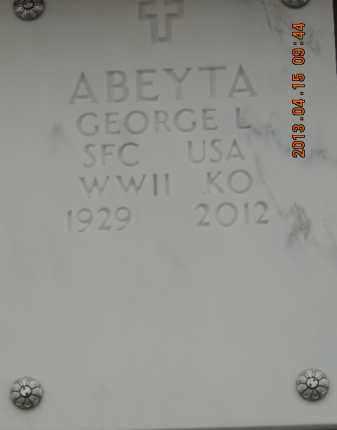 ABEYTA, GEORGE L - Denver County, Colorado | GEORGE L ABEYTA - Colorado Gravestone Photos