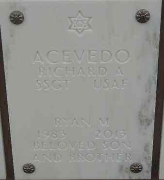 ACEVEDO, RYAN M - Denver County, Colorado | RYAN M ACEVEDO - Colorado Gravestone Photos