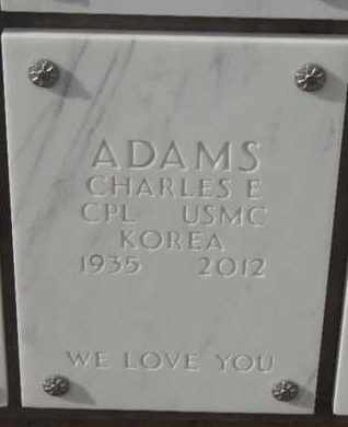 ADAMS, CHARLES E - Denver County, Colorado | CHARLES E ADAMS - Colorado Gravestone Photos