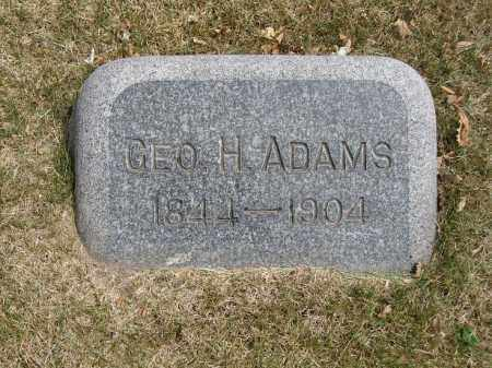 ADAMS, GEO H - Denver County, Colorado | GEO H ADAMS - Colorado Gravestone Photos