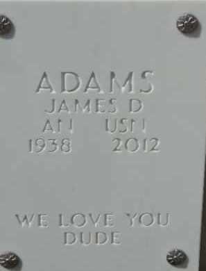ADAMS, JAMES D - Denver County, Colorado | JAMES D ADAMS - Colorado Gravestone Photos