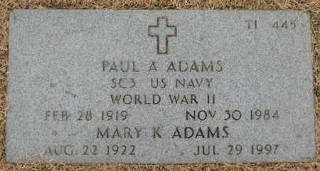 ADAMS, MARY K - Denver County, Colorado | MARY K ADAMS - Colorado Gravestone Photos