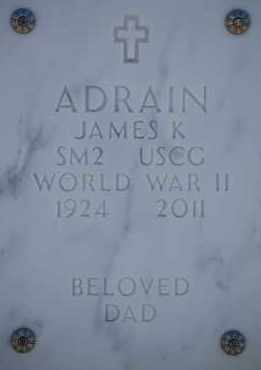 ADRAIN, JAMES K - Denver County, Colorado | JAMES K ADRAIN - Colorado Gravestone Photos