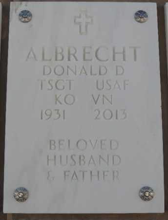 ALBRECHT, DONALD D - Denver County, Colorado | DONALD D ALBRECHT - Colorado Gravestone Photos
