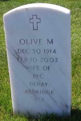 ALDRIDGE, OLIVE M - Denver County, Colorado | OLIVE M ALDRIDGE - Colorado Gravestone Photos