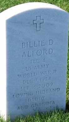 ALFORD, BILLIE D - Denver County, Colorado | BILLIE D ALFORD - Colorado Gravestone Photos