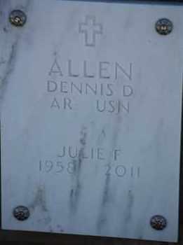 ALLEN, JULIE F - Denver County, Colorado   JULIE F ALLEN - Colorado Gravestone Photos