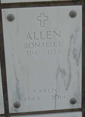 ALLEN, KAREN - Denver County, Colorado | KAREN ALLEN - Colorado Gravestone Photos