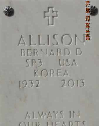ALLISON, BERNARD D - Denver County, Colorado | BERNARD D ALLISON - Colorado Gravestone Photos