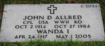 ALLRED, JOHN D - Denver County, Colorado | JOHN D ALLRED - Colorado Gravestone Photos