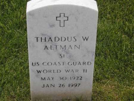 ALTMAN, THADDUS WILLIAM - Denver County, Colorado | THADDUS WILLIAM ALTMAN - Colorado Gravestone Photos