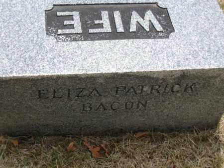 BACON BASSETT, ELIZA PATRICK - Denver County, Colorado | ELIZA PATRICK BACON BASSETT - Colorado Gravestone Photos