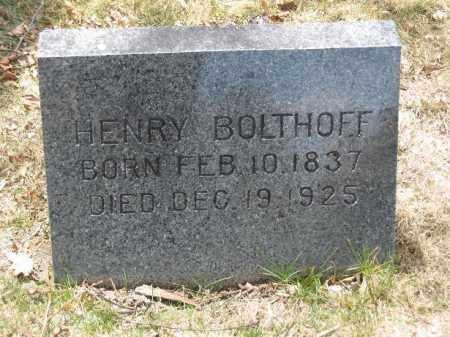 BOLTHOFF, HENRY - Denver County, Colorado   HENRY BOLTHOFF - Colorado Gravestone Photos