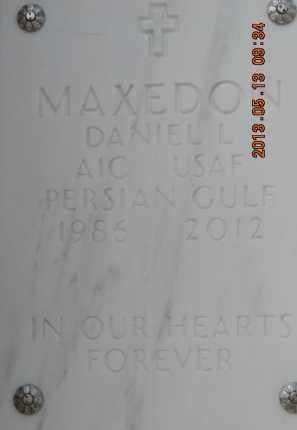 MAXEDON, DANIEL L - Denver County, Colorado | DANIEL L MAXEDON - Colorado Gravestone Photos
