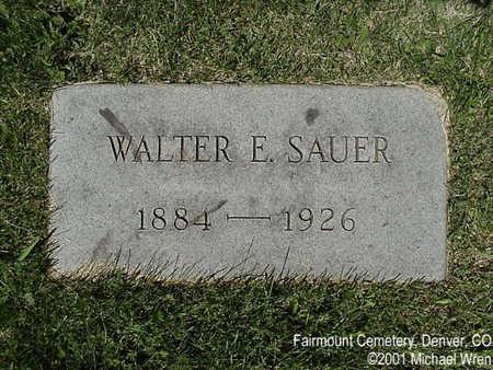 SAUER, WALTER EUGENE - Denver County, Colorado | WALTER EUGENE SAUER - Colorado Gravestone Photos