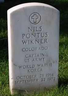 WIKNER, NILS PONTUS - Denver County, Colorado | NILS PONTUS WIKNER - Colorado Gravestone Photos