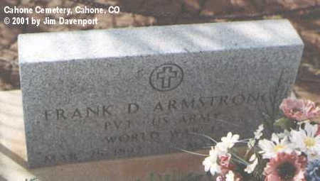ARMSTRONG, FRANK D. - Dolores County, Colorado | FRANK D. ARMSTRONG - Colorado Gravestone Photos