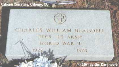 BLAISDELL, CHARLES WILLIAM - Dolores County, Colorado | CHARLES WILLIAM BLAISDELL - Colorado Gravestone Photos